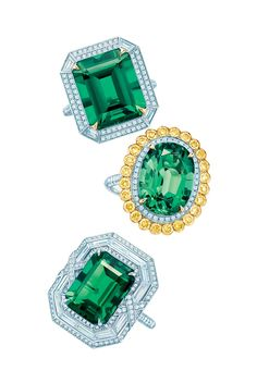 Tiffany & Co. 2014 Blue Book Emerald Rings