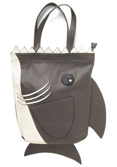 Jaws the Two of Us Tote. Youre so smitten with this quirky tote, you see rainbows when it crosses your mind! #grey #modcloth
