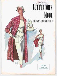 Lutterloh's Mode Ergänzungsheft Nr. 61 / 1956 in Antiquitäten & Kunst, Antiquarische Bücher, Kunst & Kultur | eBay
