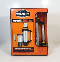 Stanley Stainless Thermos Bolt Combo Mug 18 Ounce & Vacuum Bottle 1.1 Quart New! #Thermos