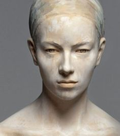 She looks odd, right? Maybe that's because she's made entirely of wood! - Walpoth wood sculpting.