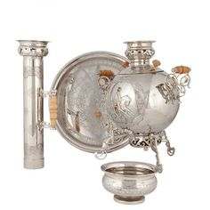 """VIP samovar """"Snowstorm"""" russian handcraft, samovars, samovar, for home, interior inspiration, kitchen, tableware, from Russia, Russian pattern, painting, gift ideas, tea party, cosiness, souvrussia"""