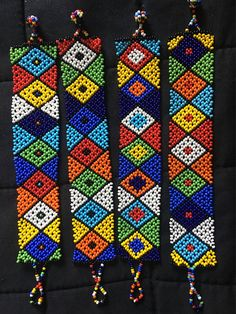 African Bangles Jewelry For women Maasai Jewelry Beaded African Earrings, African Beads, African Jewelry, Beading Patterns Free, Beaded Jewelry Patterns, Bangles, Beaded Bracelets, Embroidery Bracelets, Beaded Necklace