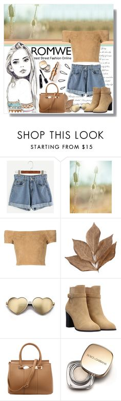 """""""Romwe - Blue Denim Shorts"""" by angelstylee ❤ liked on Polyvore featuring Chanel, Alice + Olivia, Bliss Studio, Wildfox, Old Navy and Dolce&Gabbana"""