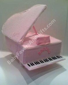 Piano Diaper Cake