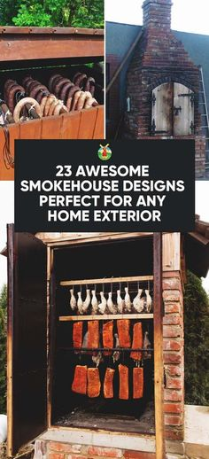 23 Awesome DIY Smokehouse Plans You Can Build in the Backyard - Expolore the best and the special ideas about Homemade smoker Build A Smoker, Diy Smoker, Homemade Smoker, Smoker Ribs, Bbq Ribs, Bbq Pork, Pork Ribs, Smoke House Plans, Smoke House Diy