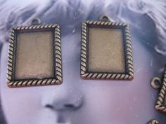 Brass Ox  Photo Frame Bezel Charms 189BOX x4 by dimestoreemporium