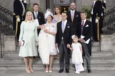 the christening of Prince Oscar of Sweden at the Royal Chapel in Stockholm