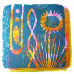 Gelatin Printmaking Experiment