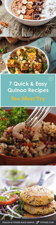7 delicious quinoa recipes to try. #quinoa