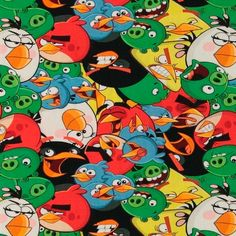 Stretch jersey with Angry birds