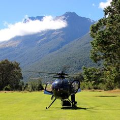 Got to get to the chopper. Just another day in the office. #newzealand #helicopter #chopper #