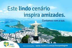 """Hoje é um dia muito especial de mobilização em toda nossa Arquidiocese do Rio de Janeiro:  É o dia """"V""""! O dia do voluntariado JMJ.  Dê seu SIM, contribua com a Jornada Mundial da Juventude.  Inscreva-se em www.rio2013.com"""