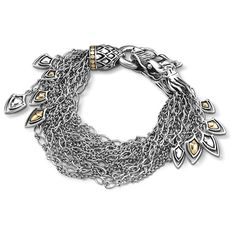 John Hardy Naga Dangling Gold & Silver Bracelet (74.320 RUB) ❤ liked on Polyvore featuring jewelry, bracelets, gold charms, chains jewelry, charm bangles, yellow gold bangle and gold jewellery