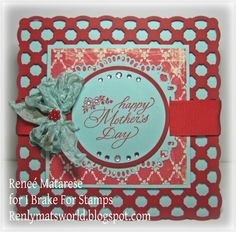 Happy Mother's Day card.  Verse and image (inside) from I Brake For Stamps.