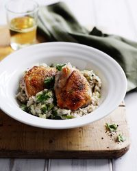 Indonesian Coconut Rice with Chicken and Zucchini Recipe on Food & Wine