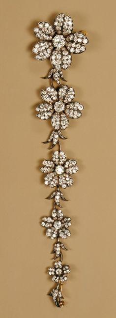 Cosage piece, ca. 1880–1900 Tiffany & Company (American, 1837–present) Gold, diamonds