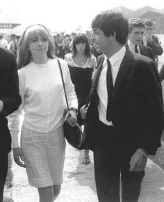 27th May 1964. Paul and Jane Asher, along with press officer Derek Taylor return from their Virgin Isles holiday.