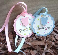 Handmade Blue Pink Rainbow Polka Dot Onesie Thank You Tag Girl Birthday Cards, Thank You Tags, Onesies, Polka Dots, Rainbow, Christmas Ornaments, Holiday Decor, Unique Jewelry, Handmade Gifts