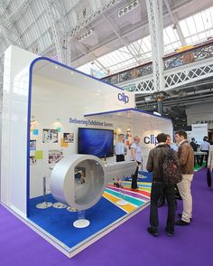 """Another feature of Clip's stand at Marketing Week Live 2013 was our """"Key to Success"""" safe. Visitors tried to open the safe to win a range of high tech gadgets."""