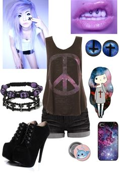 """Pastel goth"" by a-fucking-a on Polyvore"