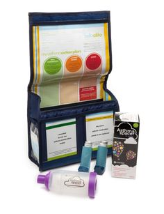 My Asthma Bag - designed to help families manage asthma. Read about it at belloalito.com.au #asthma #kids #healthengagement