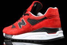 New Balance 998 Red Black