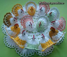 How to crochet chicken - Handmade-Paradise Beau Crochet, Crochet Birds, Thread Crochet, Crochet Animals, Crochet Crafts, Crochet Doilies, Crochet Projects, Crochet Chicken, Confection Au Crochet