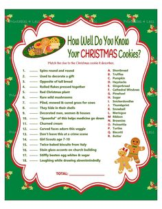 Christmas Game Cookie Jar Game Christmas Party Game Holiday Party Game Christmas Word Game Printable Xmas Game Printables 4 Less Better Pins Printable Christmas Games, Christmas Trivia, Christmas Games For Family, Holiday Games, Christmas Words, Holiday Parties, Office Christmas Party Games, Office Party Games, Christmas Fun