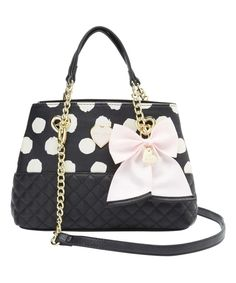 Look what I found on #zulily! Betsey Johnson Polka Dot Quilt Trapezoid Shopper by Betsey Johnson #zulilyfinds