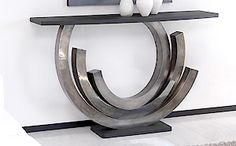 Console Table by Taylor Llorene | Antique silver patina designer console table http://modernconsoletables.net