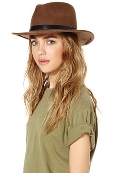 Brixton Messer Wool Hat - Taupe | Shop What's New at Nasty Gal
