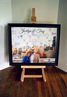 Alternative Hochzeit Gästebuch - Gästebuch Puzzle - Foto-Collage - Magnet-Gästebuch - Original individuell benutzerdefinierte Gästebuch