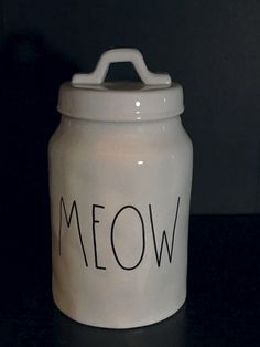 """Rae Dunn """"Meow"""" Cat Canister"""