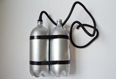 Making fake air tanks for a scuba diver costume