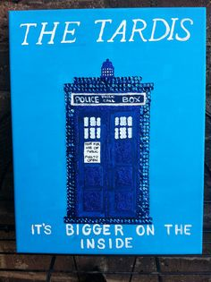 Tardis, Doctor Who, Whovians  Sequin mosaic $25.00 #teresascanvascreations