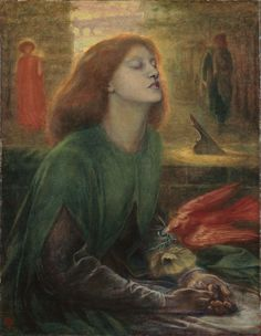 Dante Gabriel Rossetti Beata Beatrix, 1870 This is a portrait of Elizabeth Siddal posing as Beatrice from Dante Alighieri's poem Vita Nuova. The poem is about his unrequited love and mourning for Beatrice Portinari. Dante Gabriel Rossetti, Dante Alighieri, John Everett Millais, Elizabeth Siddal, Pre Raphaelite Paintings, Pre Raphaelite Brotherhood, Edward Burne Jones, Tate Gallery, Tate Britain