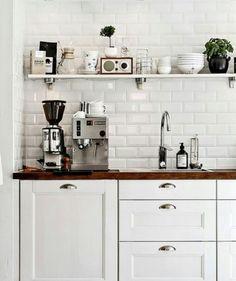 The cozy space. White kitchen