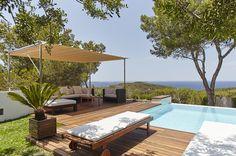 Terrace Pool side Modern Ibiza Dream Villa Rent Summer Villas