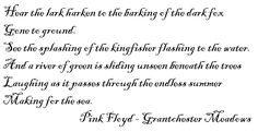 Pink Floyd - Grantchester Meadows.♔..