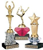 These Pink, Clear and Gold Crystalline Trophies Will Leave A Lasting Impression. These Trophies Feature A Marble Base And Multi-Faceted Shaped Riser That Holds A Figurine Of Your Choice. These Crystalline Trophies Feature FREE Engraving Up To 40 Characters. http://www.crownawards.com/StoreFront/IAFDispatcher?iafAction=searchForCategoryGeneral&keywords=crystalline&searchType=TTL