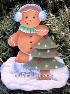 The Decorative Painting Store: Ginger's Christmas Tree, Gingerbread