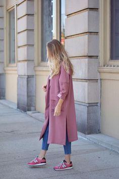 paneled duster coat