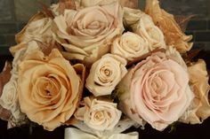 Champagne Rose Bouquet Blush Bouquet Winter by SmokyMtnWoodcrafts, $230.00