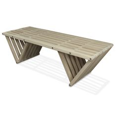 Bench X90 - Light Gray White Oak The Bench X90 is stylish, sturdy, and a stunning addition to any décor. An innovative design and triangular legs make the X90 far stronger than traditional four-legged construction. The triangles, which look like inverted pyramids, give the X90 a bold modern appearance. It's ideal for seating in the yard, deck, or by an entryway. The X90 is available in ten beautiful natural colors. The high quality stain finish guards against rain, humidity, and the sun.