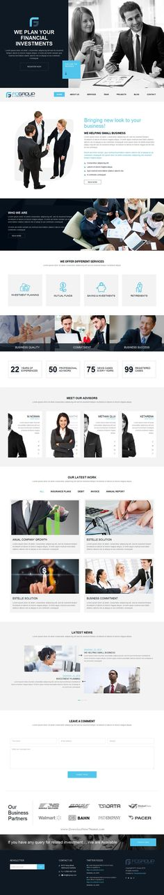 Finance Group is a custom design minimal Bootstrap HTML5 #Template for advisor, attorney, #financial,  business or corporate #website. Download Now!