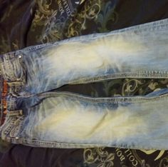 Rock revivals Bootcut light washed worn but in good condition missing front button Rock Revival Jeans Boot Cut