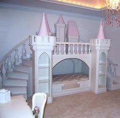 Lit ch teau de princesse en bois cabane enfant sur - Decoration princesse chambre fille ...