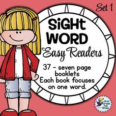First Grade Fun Times from Sight Word Printable Easy Readers - Small Group Instruction **Updated** 37 Books… Teaching Sight Words, Sight Word Practice, Kindergarten Reading, Teaching Reading, Guided Reading, Sight Word Readers, Sight Words Printables, Reading For Beginners, Easy Reader