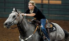 Barrel racing at the 2nd annual Silver Spurs Futurity.